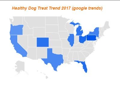 Healthy dog treats state trend america 2017