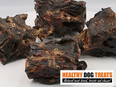 kangaroo tail pieces dog treat