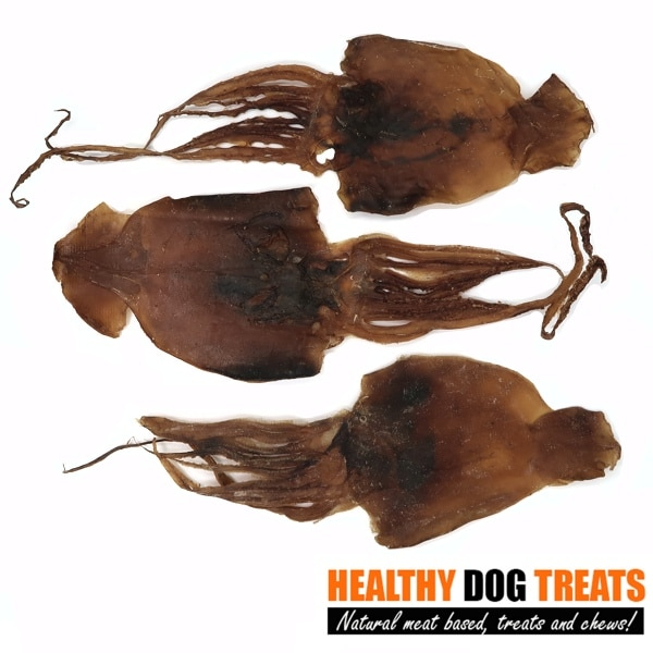 aussie squid jerky dog treats x3