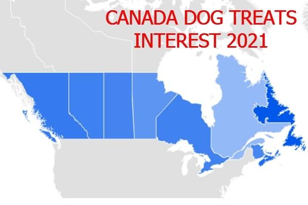 Canada dog treats interest 2021