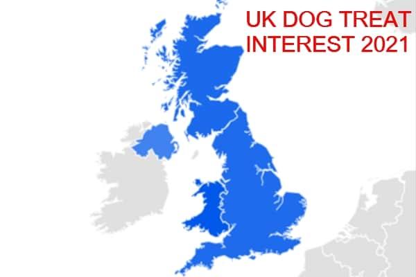 UK Dog treat interest 2021