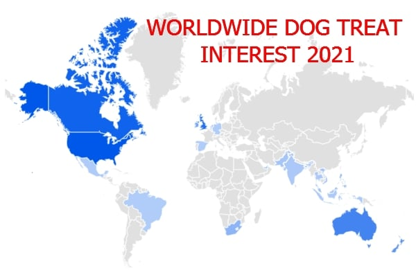 Worldwide dog treat Interest 2021