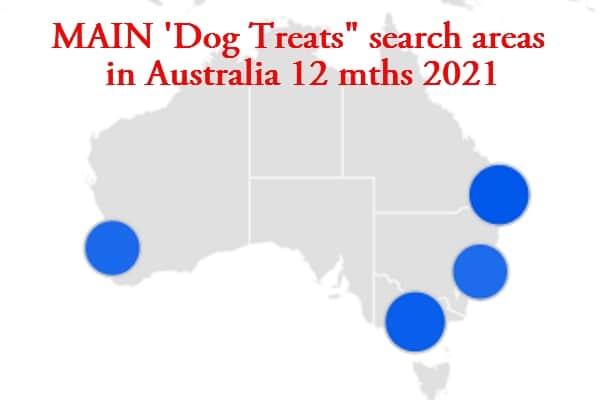 australia Metro areas dog treat search 2021